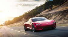 Tesla Roadster driving