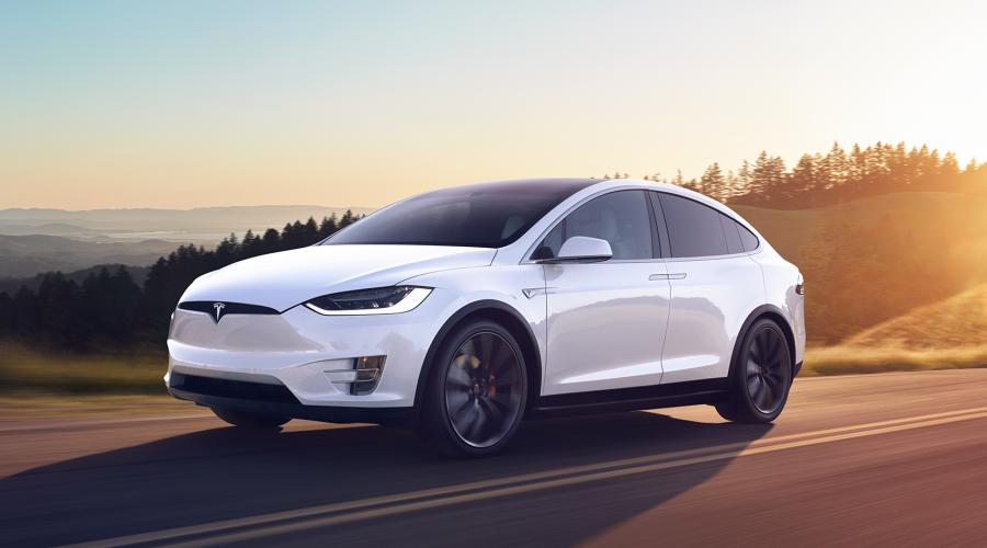 Tesla Model X driving